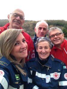 Valentina Casoni, Adolfo Belli, Marco Medici, Dimmo Lombardi e Fabrizia Caselli hanno rappresentato la Croce Rossa di  Toano.