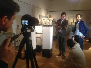 Matteo Manfredini durante le recenti riprese di un documentario