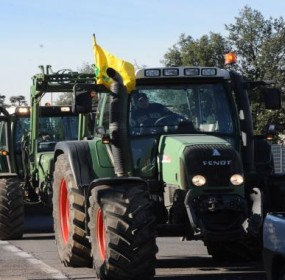 Protesta trattori, immagini di repertorio