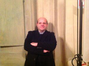 Robertino Ugolotti presso la Cappella Fernese di Palazzo D'Accursio