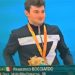 Francesco Bocciardo con la medaglia d'oro