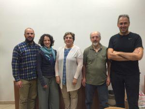 da sinistra Tobia Zagnoli, Ilenia Frizzi, Silvia Tarabelloni, Albaro Torri – rappresentati delle tre aziende - e Gabriele Arlotti, presidente Conva