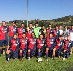 L'FC Cavola, che ha bloccato il Baiso sull'1-1