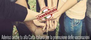Promozione della Carta italiana pro vaccinazioni a cura di TeamVaxItalia, cui ha aderito il Comune di Villa Minozzo