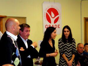 Giuseppe Mulè con il dott Roberto Abate e le dottoresse