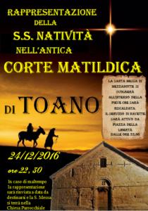 Rappresentazione della S.S. Natività nell'antica corte matildica a Toano