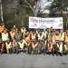 Gruppo volontari ATC3 RE Colline nel parcheggio della Pinetina domenica mattina