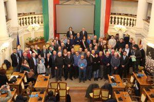 Foto di gruppo per la Nazionale del parmigiano Reggiano
