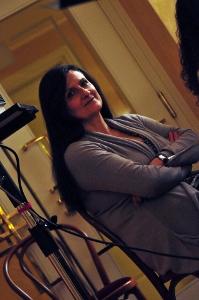 Una bella immagine della conduttrice Normanna Albertini scattata dalla fotografa Irene Ferri