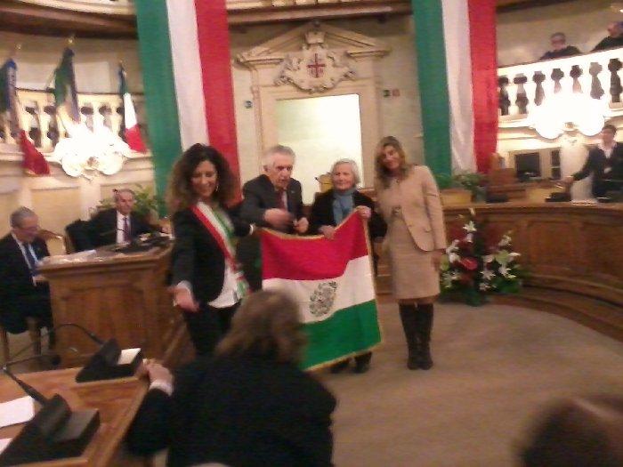 Consegna Tricolore Giacomina Castagnetti