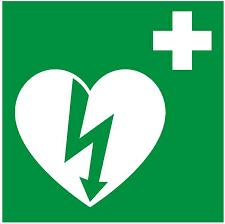 (Il simbolo del defibrillatore)