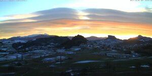 Il più bel tramonto dell'anno. Lo spettacolo dell'Appennino reggiano