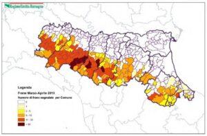 Frana mappa
