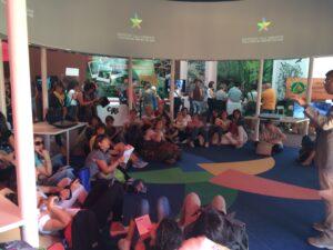 Insegnanti dell'Appennino incontrano pres Federparchi Giampiero Sammuri al Biodiversity park Expo
