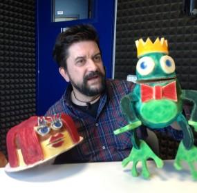 Roberto Mercati con i suoi personaggi
