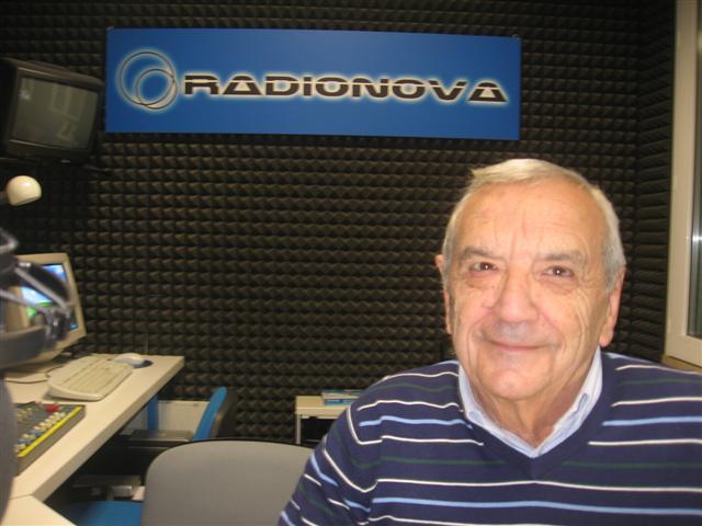 Savino Rabotti negli studi di Radionova