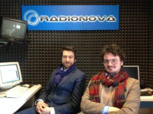 I conduttori Matteo Manfredini e Filippo Fontana negli studi di Radionova