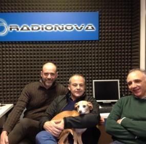 Da sinistra Luca Bussolati, Stefano Casari con Lilly e  Alessandro Vincenzi