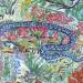 Il serpente Azzurro, dipinto di Elena Paola Gazzotti