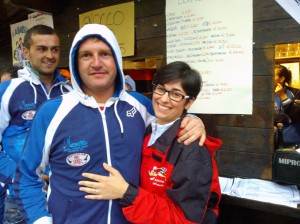 Il vincitore della categoria Esperti Victor Briselli con Manuela Zanni