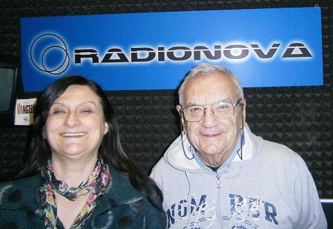Normanna Albertini e Savino Rabotti negli studi di Radionova