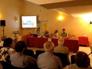 Intervento di Leo Turrini tra Gabriele Dallagiacoma Primavori, Settimo Baisi e Gabriele Arlotti (Large) (2)