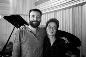 Tiziano Bianchi con il produttore e trombettista americano Tiger Okoshi