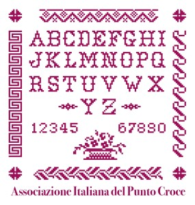 (Il logo di A.I.P.C., Associazione Italiana Punto Croce)