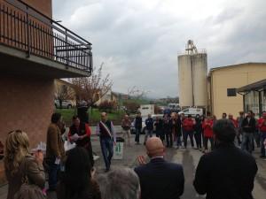 Latteria di Cavola, un momento dell'inaugurazione (foto Redacon)