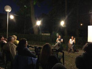 Marco Fincardi, Margherita Becchetti Ciùcâna a scrittori in giardino a Vetto del 9.8.16