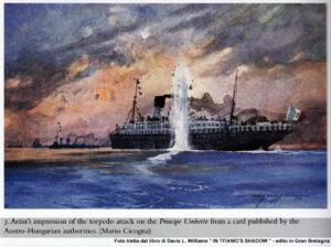 Nave Principe Umberto - cartolina postale austriaca