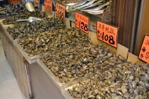 Negozi di pesci essicati a Hong Kong