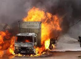 Renault Trukcs bruciato