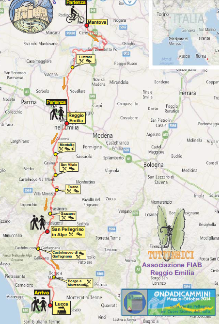 Tratto Cammino da Mantova a Lucca