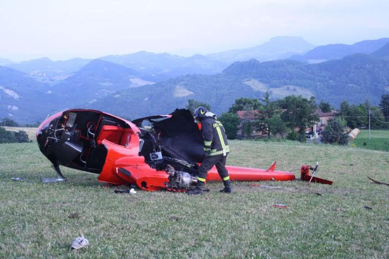 Elicottero Zefir : Incidente mortale nei pressi di vedriano muore il