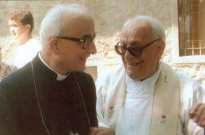 Vescovo Baroni e mons. Prandi primo piano
