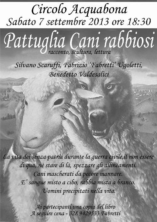 Volantino pattuglia cani rabbiosi