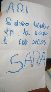 Il bigliettino di Sara