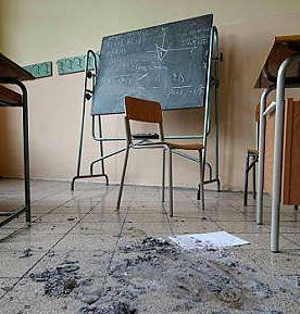 Vandali scuola - immagini di repertorio