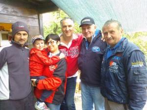 gli organizzatori con la famiglia Zanni