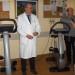 Dr. Manari, dr. Zobbi ed Eros Tamburini con i cicloergometri