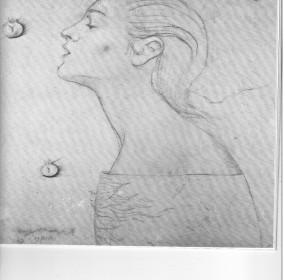 Matilde in un disegno di Omar Galliani